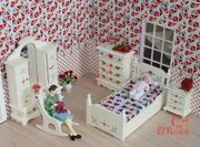 1:12 Lot 5 Dollhouse Furniture Miniature Children Bedroom Suite Set