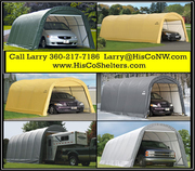 Weather-Shield Portable Garage Shelter– Round Roof Style